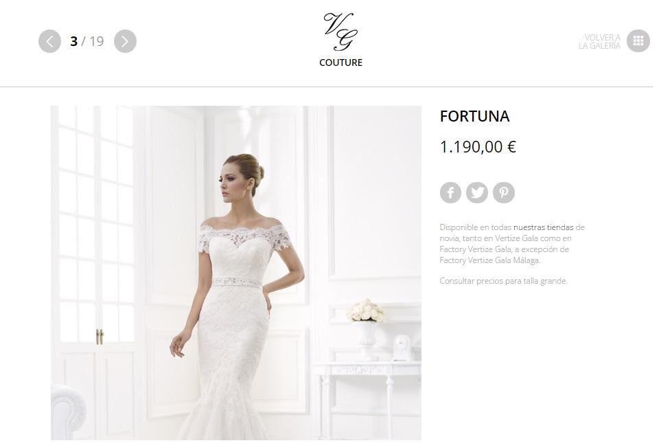 Vestidos de novia en factory vertize gala